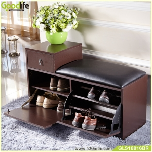 wooden shoe stool China supplier