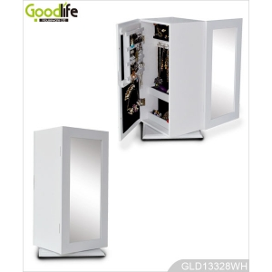 China 360 Degree Rotating Wooden Jewelry and Makeup Storage Cabinet GLD13328 factory