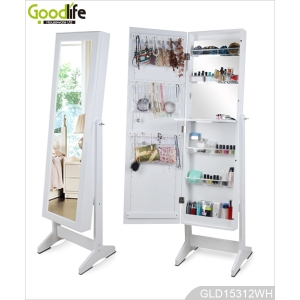 China Amazing furniture standing mirror jewelry armoire with little dresser factory