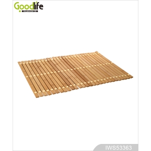 China Teak wood door design  mat for bathing safety IWS53363 factory
