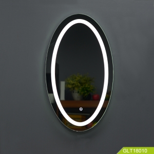 Кита Modern Oval shape bathroom mirror with light and touch switch supply by China manufacturer завод