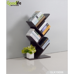 China Creative wooden book shelf with tree shape bookcase desktop bookshelf durable mini simple design factory
