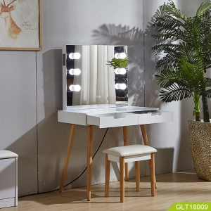 Fabbrica della Cina Dressing mirror table connecting Bluetooth with Speaker