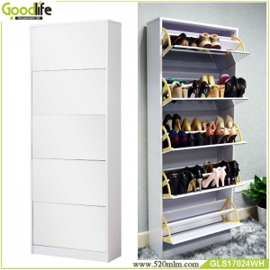 China Floor standing Shoe cabine with mirror shoe rack adjustable,shoe organizer factory