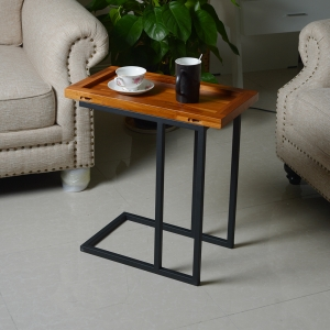China Furniture Wholesalers Living Room Teak Table Metal Stand Coffee Table factory
