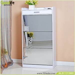 Fabbrica della Cina Furniture hobby lobby shoe cabinet wooden shoe cabinet with mirror GLS11315
