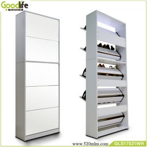 China Goodlife 3+2 wooden shoe rack chest of drawers,shoe rack adjustable factory