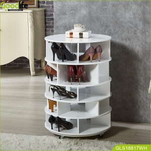China Goodlife Entryway furniture rotating shoe rack shoes organizer wholesale in white factory