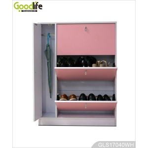 China Hallway furniture wooden shoe rack cabinet with umbrella storage cabinet GLS17040 factory