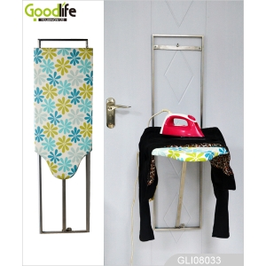 China Hanging door metal material ironing board cabinet with waterproof fibric for ironing factory