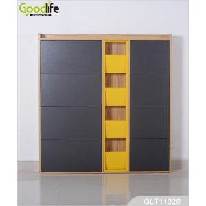 Fabbrica della Cina High gloss paint, three layers of wooden shoe cabinet factory wholesale GLT11028