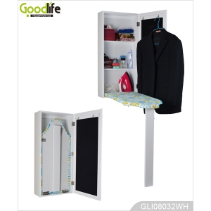 China Ironing board wall mounted ironing board storage cabinet with mirror factory