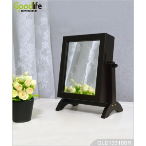 China Mini Desk Top Standing Jewelry Cabinet Organizer with Makeup Mirror GLD13310 factory