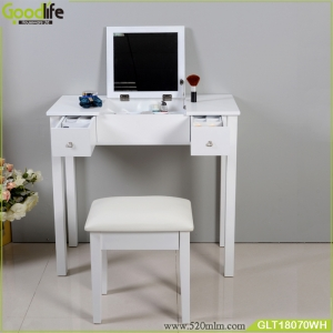 China Mirrored dressing table with drawers and  grids for storage factory