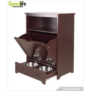 China Pet Feeding cabinet  2 Stainless Steel Bowls GLD99580 factory
