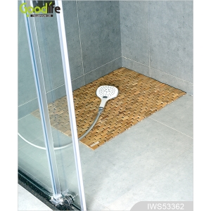 China Product's name New pattern Teak wooden mat to protect bathing IWS53362 factory