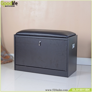 中国Shoe cabinet furniture with comfortable sponge cushion seat China Supplier工場