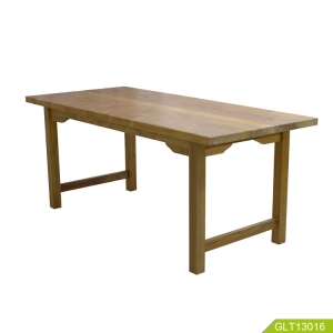 Chiny Solid Teak wood nail table dining table set for meeting study or repast home office furniture waterproof and  heat insulation fabrycznie