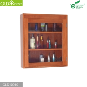 中国Solid wood cabinet furniture for bathroom storage toilet requisites工場