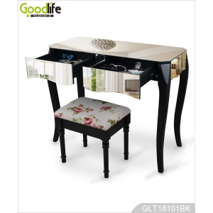 China Solid wood furniture bedroom mirrored vanity dressing table GLT18101 factory