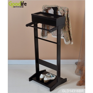 China Standing wooden dressing valet clothes organizer home furniture GLD14316 factory