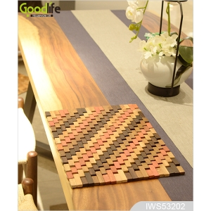 China Teak wood door design  mat for bathing safety IWS53202 factory