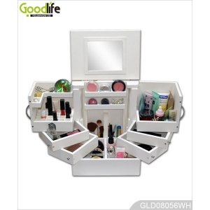 La fábrica de China Vanity jewelry multifunctional cabinet makeup stroage box GLD08056