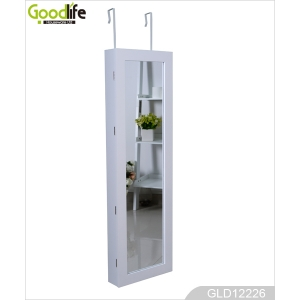 China Wall mount hang over the door mirror jewelry cabinet GLD12228 factory