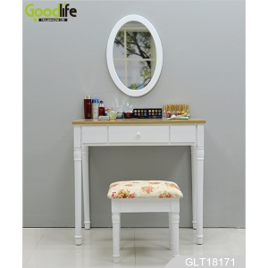 China Wall mounted dressing table with An oval mirror and a lining stool GLT18171 factory
