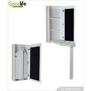 China Wall mounted foldable painted wood ironing board storage cabinet GLI08032 factory