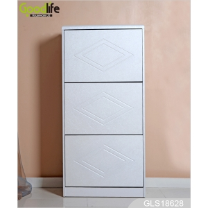 Fabbrica della Cina White 3 rotatable drawers shoe rack shoes organizer wholesale GLS18628