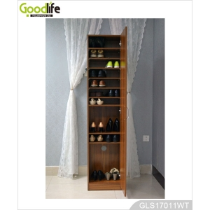 China Wholesale Tall Wooden Shoe Storage Cabinet GLS17011A factory