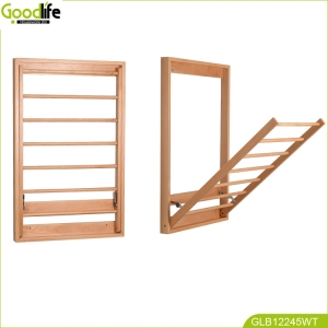 China Chinese Guangdong folding wooden bathroom cloth rack factory