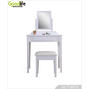 China Wholesale home furniture makeup vanity table and mirror set with a stool GLT18579 factory