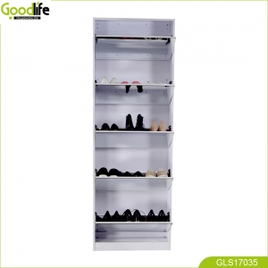 China Wooden Mirror Shoe cabinet With 5 layer pretty good looking top quality GLS17035 factory