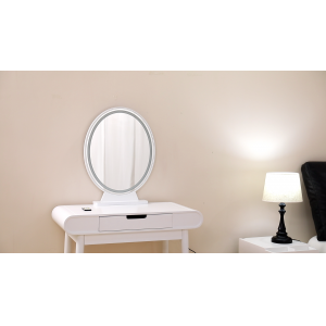 China Wooden Vanity Mirror Can Adjust Light Color and Brightness With Remote Control factory