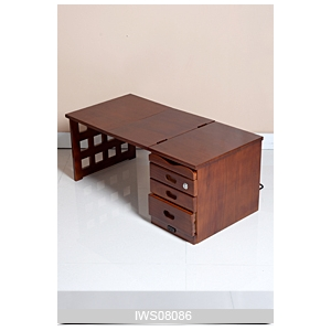 China Wooden folding furniture computer desk folding office table factory