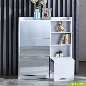 Кита Wooden luxurious shoe cabinet with mirror завод