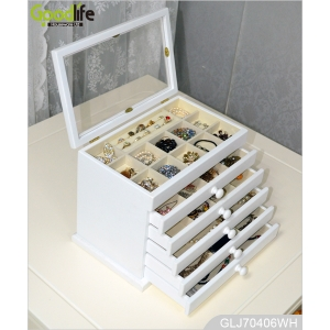 China ebay hot sale painted wooden jewelry organizing box jewelry case GLJ70406 factory