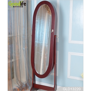 China floor standing oval jewelry cabinet GLD13220 fábrica