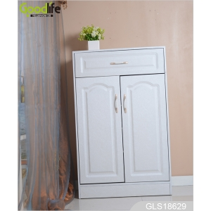 China living room furniture gloss white shoe case GLS18629 factory