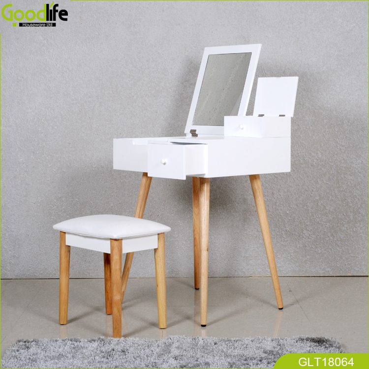 2018 New Design Dressing Table With Mirror And Solid Wood
