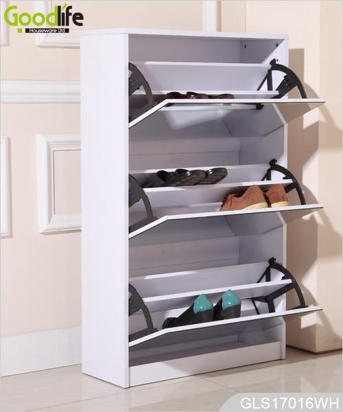 3 Tiroirs Mdf Chaussures Miroir En Bois Rack