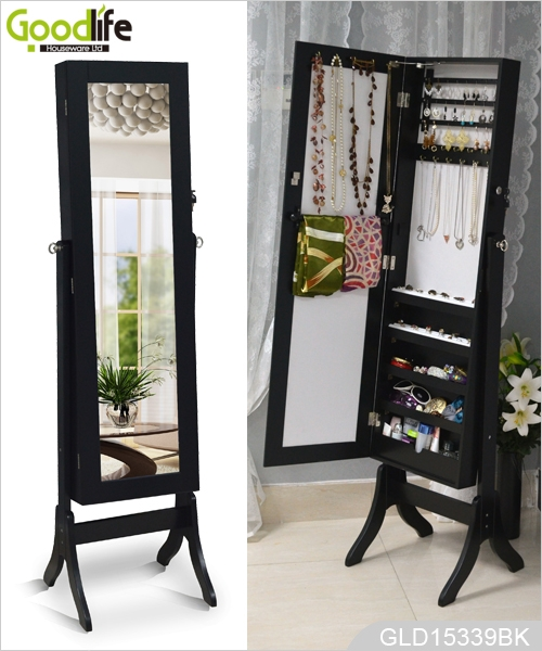 miroir pleine longueur dressing et bijoux stockage combin. Black Bedroom Furniture Sets. Home Design Ideas
