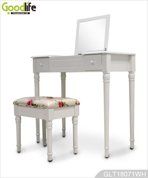 chambre mdf peint et solide coiffeuse en bois avec tabouret pour les femmes. Black Bedroom Furniture Sets. Home Design Ideas