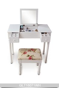 Chambre mdf peint et solide coiffeuse en bois avec - Tabouret pour coiffeuse chambre ...