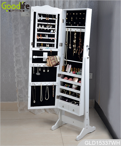 Merveilleux Chinese Wooden Jewelry Storage Cabinet With Full Length Dressing Mirror  From Goodlife GLD15337 ...