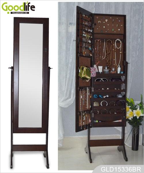 Ebay vendita calda in piedi in legno a specchio armadio gioielli per vestirsi e lo stoccaggio - Armadio specchio gioielli ...