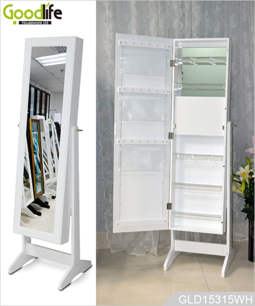 Beautiful Fashion Wooden Makeup Cabinet With Mirror China Factory