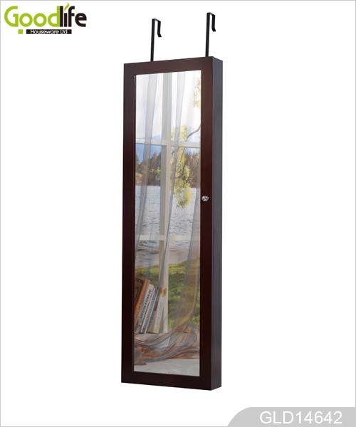 Floor Standing Mirror Jewelry Cabinet Wholesale Mirrored Jewelry Box  GLD14642